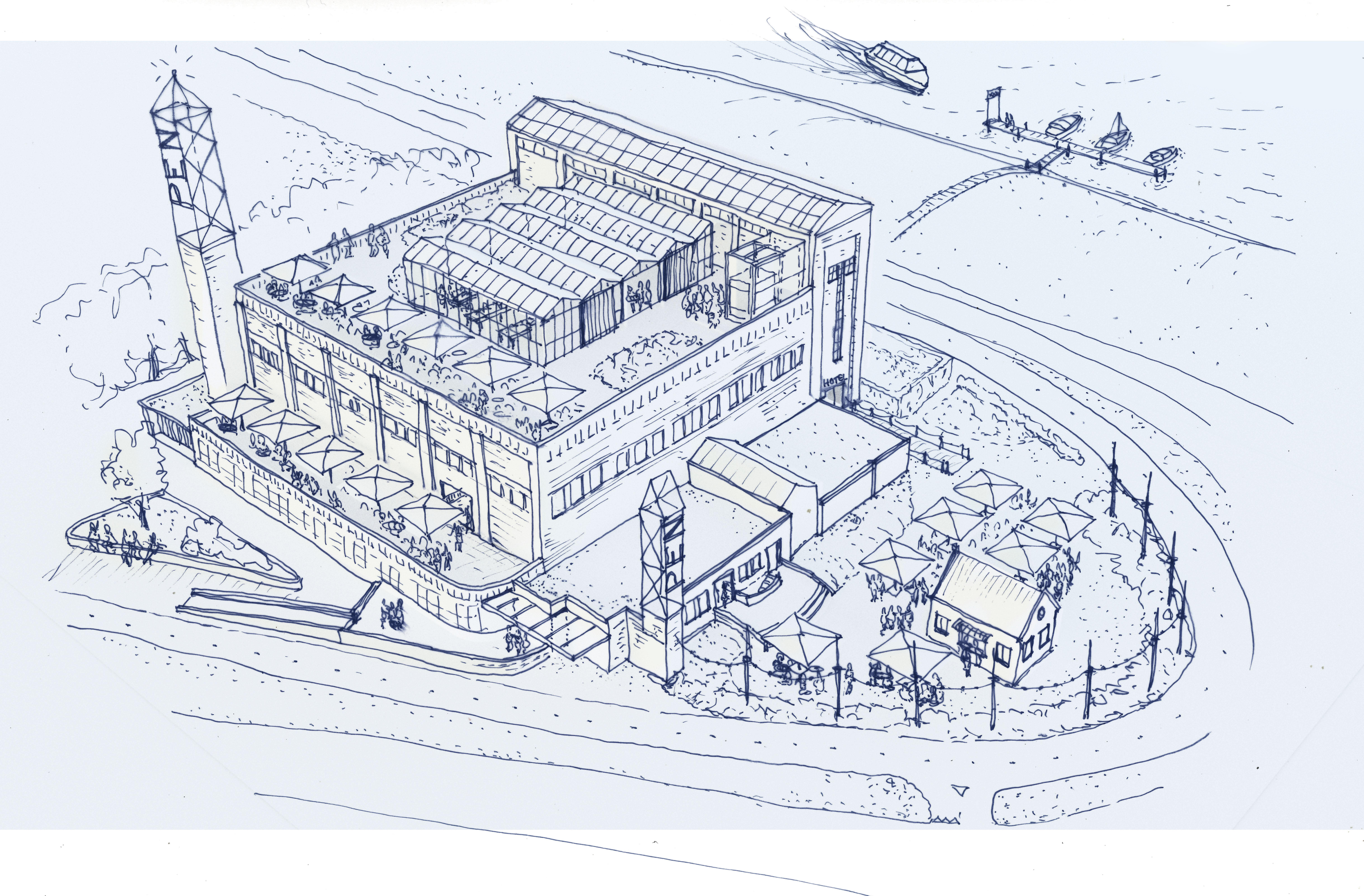 Transformatie PEN station - nieuwe bestemming voor industrieel erfgoed. Zijlstra Schipper Architecten - architectenbureau Noord-Holland.