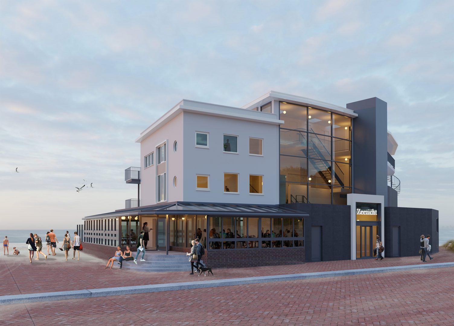 Uitbreiding restaurant en appartementen LIDO - ZIJLSTRA-SCHIPPER-architecten-architectenbureau-noord-holland-rendering-architect-01