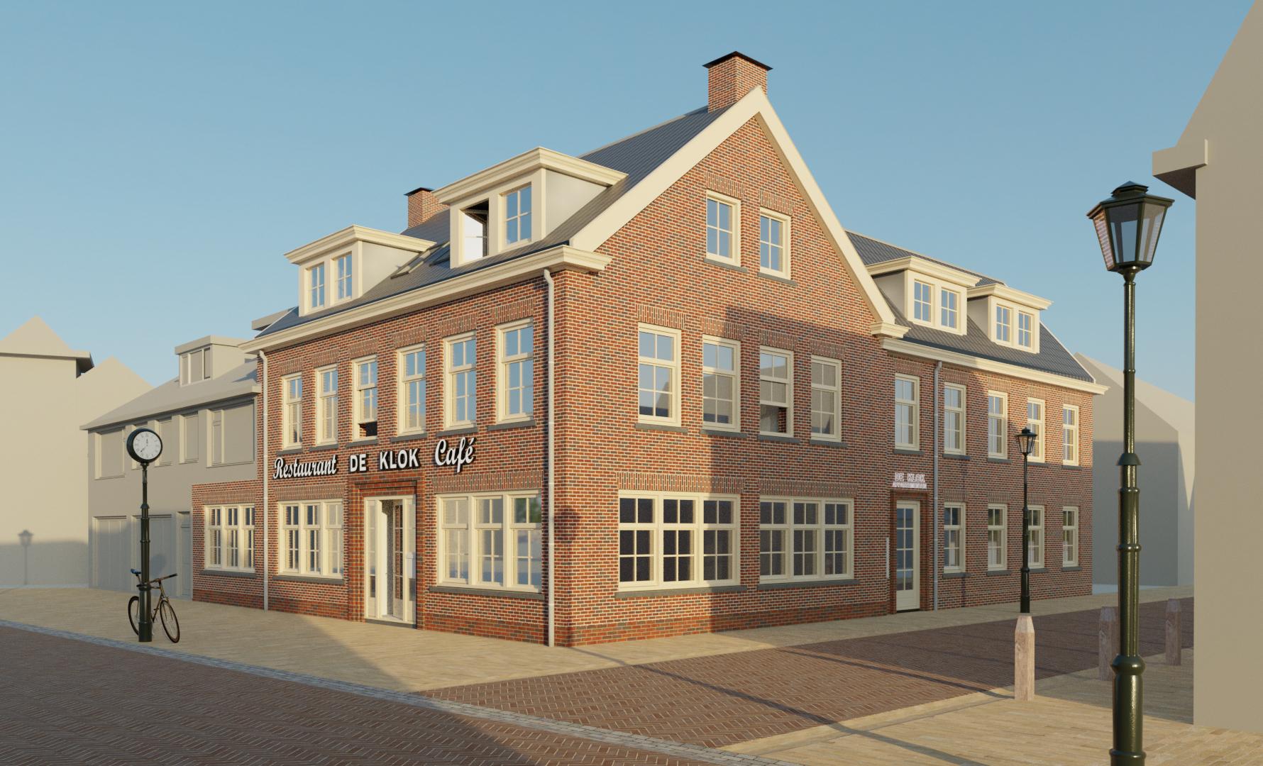 rendering-Restaurant De Klok Egmond aan Zee architect-02