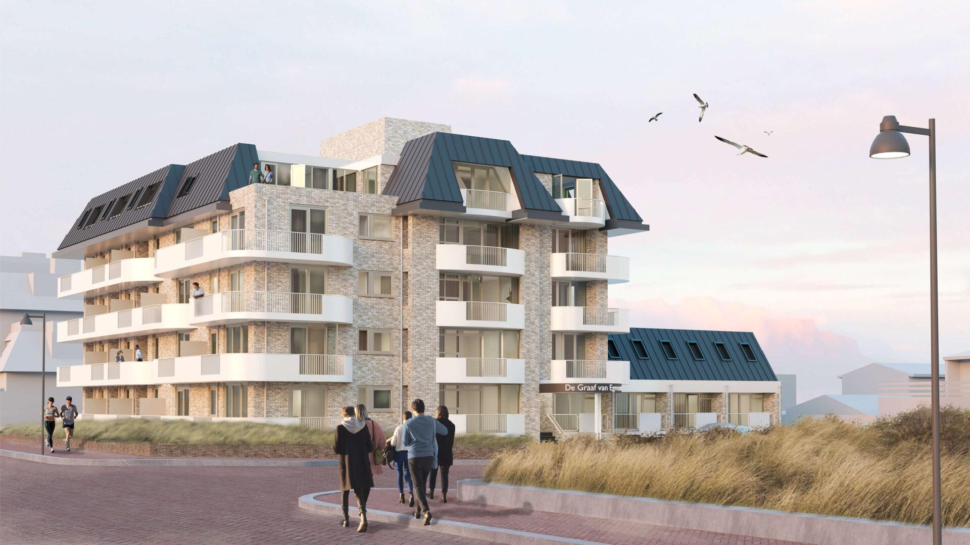 Nieuwe-situatie-hotel-graaf-van-Egmond-voor-renovatie-uitbereiding-architect-Zijlstra-Schipper-noord-holland-02