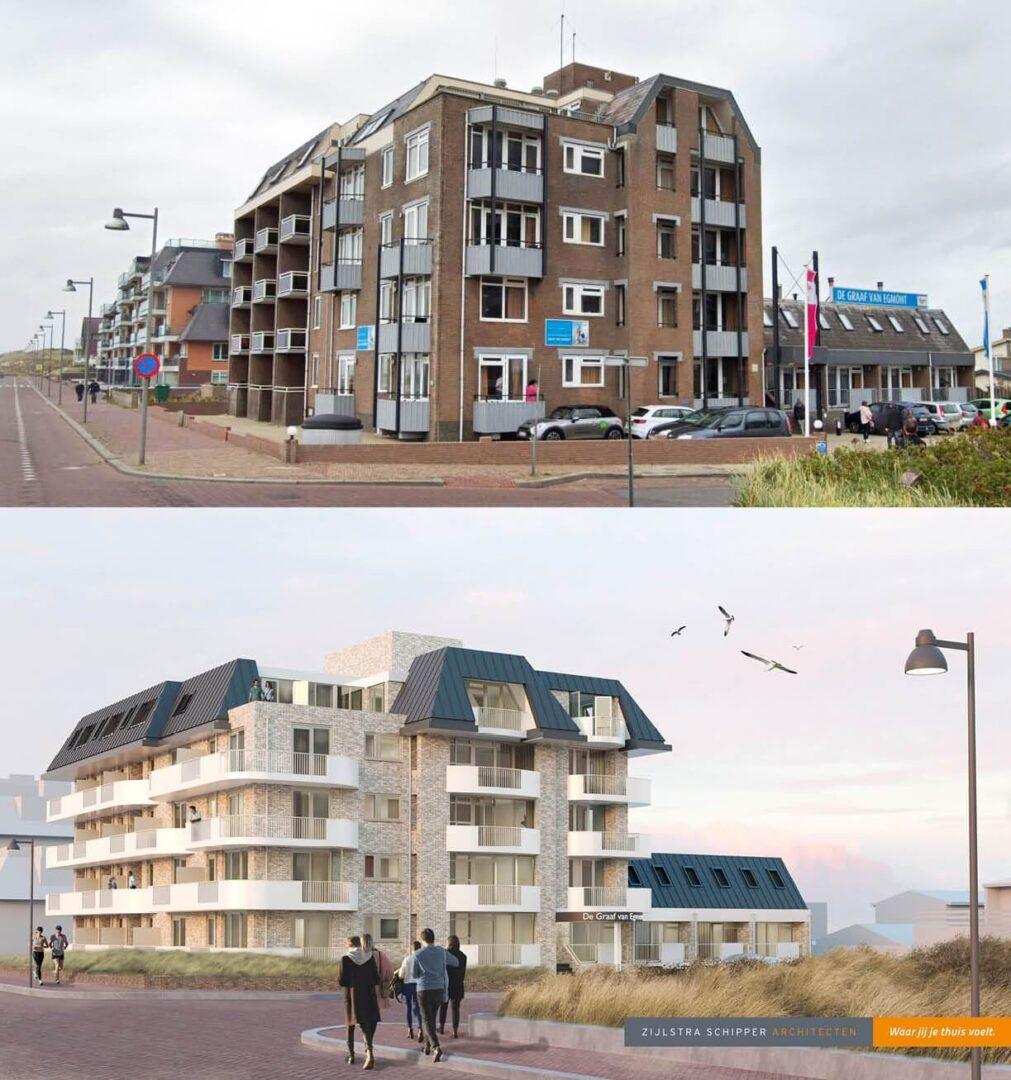 voor-en-na-situatie-hotel-graaf-van-Egmond-voor-renovatie-uitbereiding